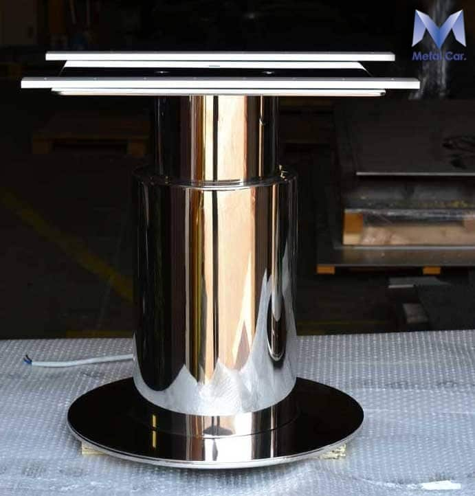 lucidatura a specchio in acciaio inox torino