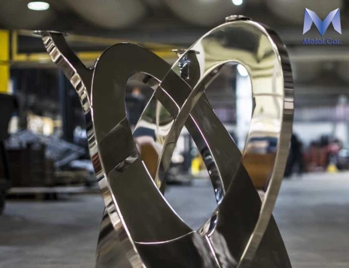 struttura per tavoli in acciaio