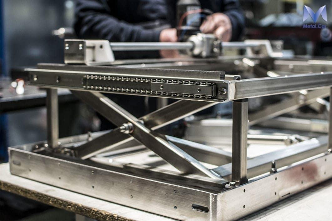 pantografo nautico in acciaio inossidabile