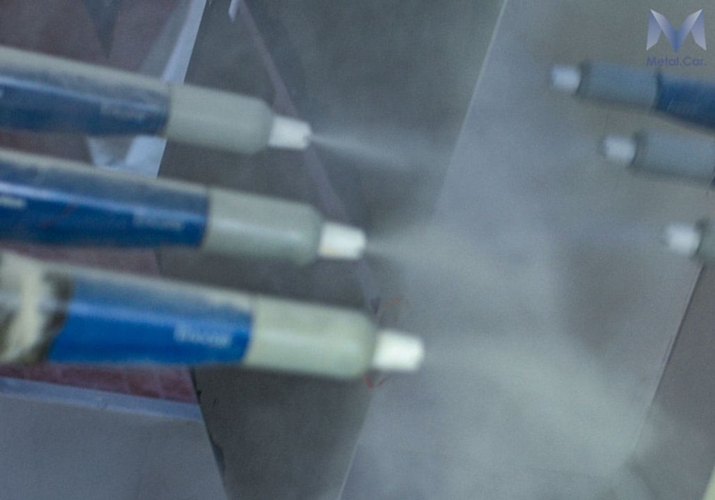 verniciatura a polvere industriale
