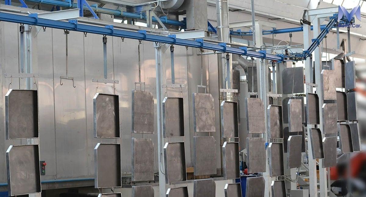 verniciatura polvere industriale