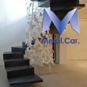 scala sospesa ornata carpenteria metallica torino