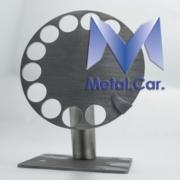 targhetta telefono in metallo satinato