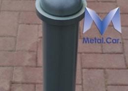 paletto dissuasore in metallo