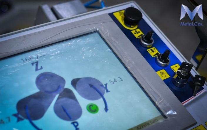 monitor macchinario calandratura